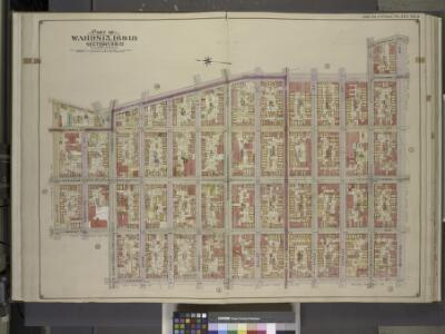 Brooklyn, Vol. 3, Double Page Plate No. 5; Part of    Wards 15, 16 & 18, Sections 9 & 10; [Map bounded by Bushwick Ave., Bushwick PL., Montrose Ave., Leonard St.; Including Metropolitan Ave., Manhattan Ave.,         Skillman Ave., Old Woodpoint Rd., M