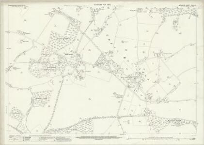 Berkshire XXVIII.10 (includes: Ashampstead; Basildon; Bradfield) - 25 Inch Map