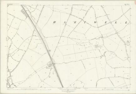 Northamptonshire LVII.6 (includes: Ashton; Hanslope; Hartwell) - 25 Inch Map