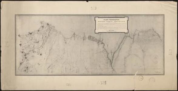 Plano topografico de la region norte argentina limitrofe con Bolivia