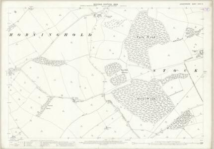 Leicestershire XXXIX.16 (includes: Blaston; Horninghold; Stockerston) - 25 Inch Map