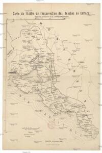 Carte du théâtre de l'insurrection des Bouches de Cattaro