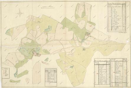 Geometrický plán pozemků dvorů na statku Bzí