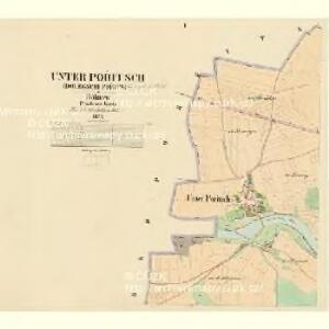 Unter Pořitsch (Dolegschi Pořitsch) - c1364-1-001 - Kaiserpflichtexemplar der Landkarten des stabilen Katasters