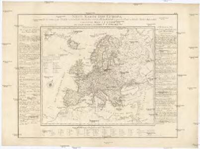 Neue Karte von Europa