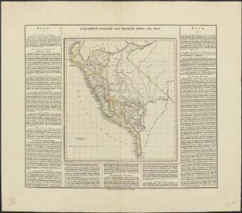 Geographisch-statistische und historische Charte von Peru