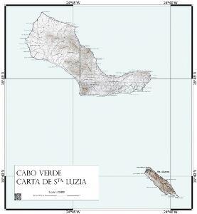 Cabo Verde Carta de Sta. Luzia