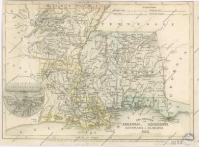 Die Staaten von Arkansas, Mississippi, Louisiana und Alabama
