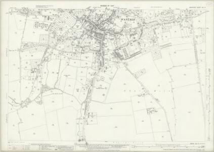 Berkshire XIV.14 (includes: East Challow; Letcombe Regis; Lockinge; Wantage) - 25 Inch Map
