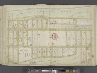 Manhattan, Double Page Plate No. 38 [Map bounded by Hudson River, W. 125th St., 9th Ave., W.1 08th St.]