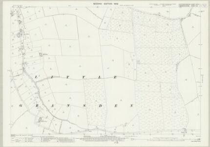 Huntingdonshire XXVIII.11 (includes: Great Gaddensden; Little Gransden; Longstowe) - 25 Inch Map