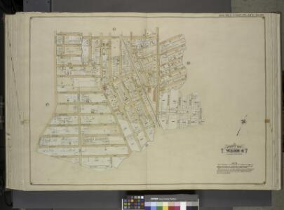 Queens, Vol. 1, Double Page Plate No. 26; Part of     Ward 4; [Map bounded by Woodlawn Ave., Remsen St., New York Ave., Claude PL.,    Mathias St., James St., Oak St., Platt St.; Including Woodland Ave., Boyland     Ave., Evergreen Ave., Fisher Ave.,