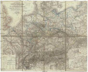 Reisekarte von Deutschland und den angrenzenden Ländern