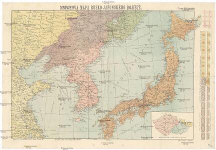 Dmychova mapa rusko-japonského bojíště [sic]