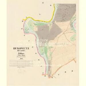 Bukowetz (Bukowec) - c0666-1-002 - Kaiserpflichtexemplar der Landkarten des stabilen Katasters