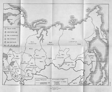 Russisches Reich. Verwaltungsgrenzen von 1914. Asiatischer Teil