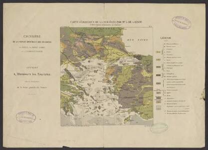 Carte géologique de la mer Egée par Mr L. de Launay : et des régions avoisinantes au 1/3 500 000e