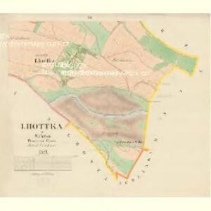 Lhottka - m1540-1-002 - Kaiserpflichtexemplar der Landkarten des stabilen Katasters