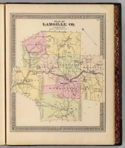 Plan of Lamoille Co., Vermont.