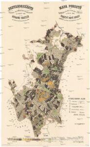 Bestandeskarte für die Excursion des böhmischen Forstvereins im August 1895 auf der Domaine Gratzen nach Befund des Wirtschaftsjahres 1895