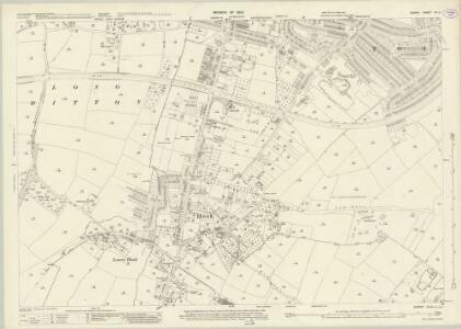 Surrey XII.12 (includes: Chessington; Hook; Long Ditton; Surbiton; Tolworth) - 25 Inch Map