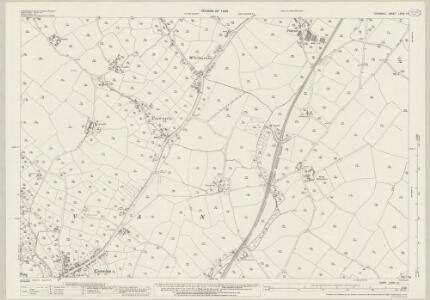 Cornwall LXVIII.12 (includes: Ludgvan; St Erth; St Hilary) - 25 Inch Map