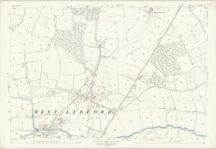 Somerset LXIV.6 (includes: Baltonsborough; Lovington; Lydford; West Bradley) - 25 Inch Map