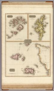 Remote British Isles: Jersey and Guernsey, Scilly Isles, Shetland Isles.