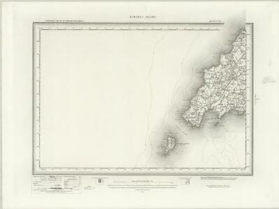 Bardsey Island (Outline) - OS One-Inch Revised New Series