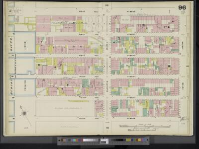 Manhattan, V. 5, Double Page Plate No. 96 [Map bounded by W. 42nd St., 10th Ave., W. 37th St., Hudson River]