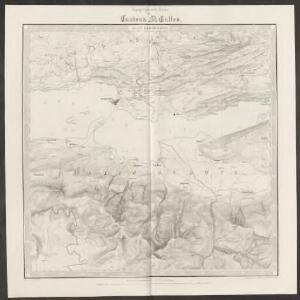 Topographische Karte des Cantons St. Gallen mit Einschluss des Cantons Appenzell