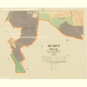 Duben - c1598-1-003 - Kaiserpflichtexemplar der Landkarten des stabilen Katasters