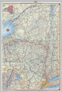 Shell Highway Map of New York (western portion).