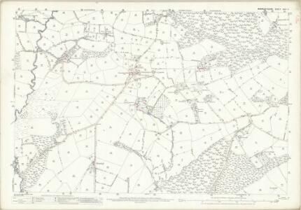Monmouthshire XXIV.5 (includes: Llanbadog Fawr; Llangybi Fawr; Pant Teg) - 25 Inch Map