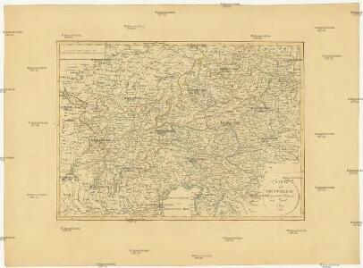 Charte von Oestreich Steyermark, Illyrien und Tyrol