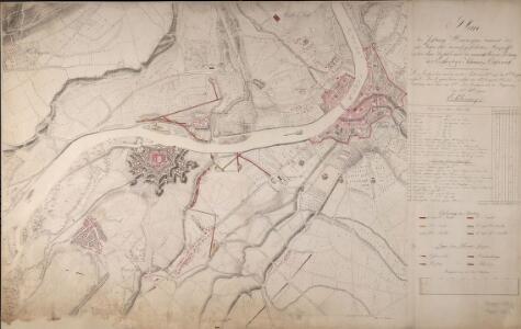 Plan der Festung Hüningen sammt des im Jahre 1815 darauf geführten Angriffs unter dem Befehle und der unmittelbaren Leitung des Erzherzogs zu Österreich