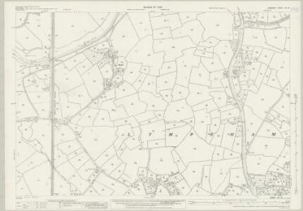 Somerset XVI.16 (includes: Bleadon; Brent Knoll; Lympsham) - 25 Inch Map