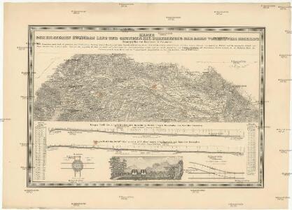 Karte der Eisenbahn zwischen Linz und Gmunden, als Vorsetzung der Bahn von Budweis nach Linz