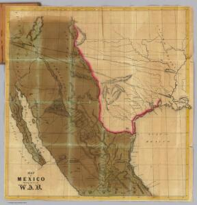 Map of Mexico Showing the Seat of War.