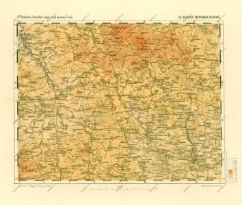 Podrobné mapy zemí Koruny české v měřítku 1:75.000 a mapa vzdáleností všech míst při silnici ležících - Blovice - Nepomuk - Blatná. Průvodce statisticko-historický po všech místech na těchto mapách uvedených a rejstřík věcný názvů hor, potoků, řek, rybníků atd. Sešit 42. List 32,