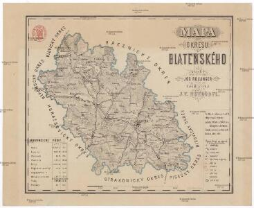 Mapa okresu Blatenského