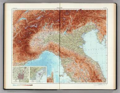 76-77.  Italy, North.  The World Atlas.
