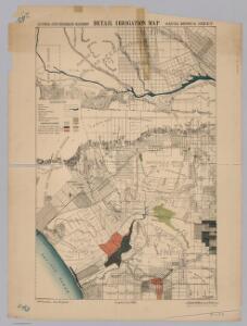 Santa Monica.  Detail Irrigation Map.