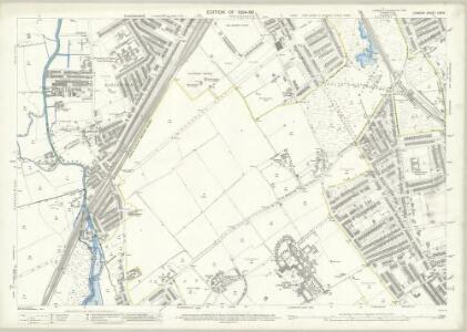 London (Edition of 1894-96) CXXIV (includes: Battersea; Wandsworth Borough; Wimbledon St Mary) - 25 Inch Map