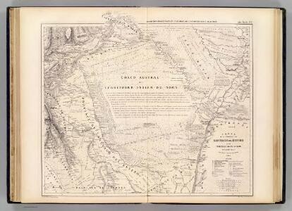 Carte, Province de Santiago del Estero, Grand Chaco.