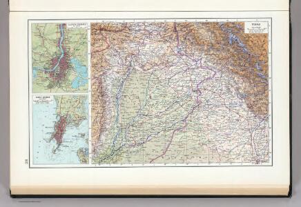 136.  Punjab.  Calcutta.  Bombay.  The World Atlas.