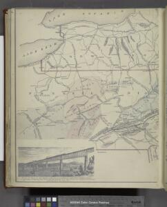 Bridge by which the South Mountain & Boston R.R. is to cross the Hudson River at Poughkeepsie, N.Y. ; The Map of South Mountain and Boston