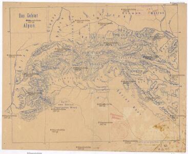 Das Gebiet der Alpen