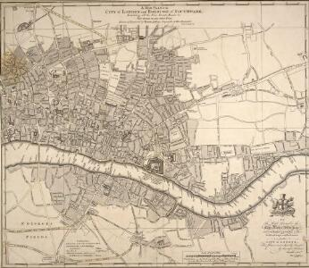 A NEW PLAN of the CITY of LONDON and BOROUGH OF SOUTHWARK