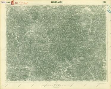 III. vojenské mapování 4764
